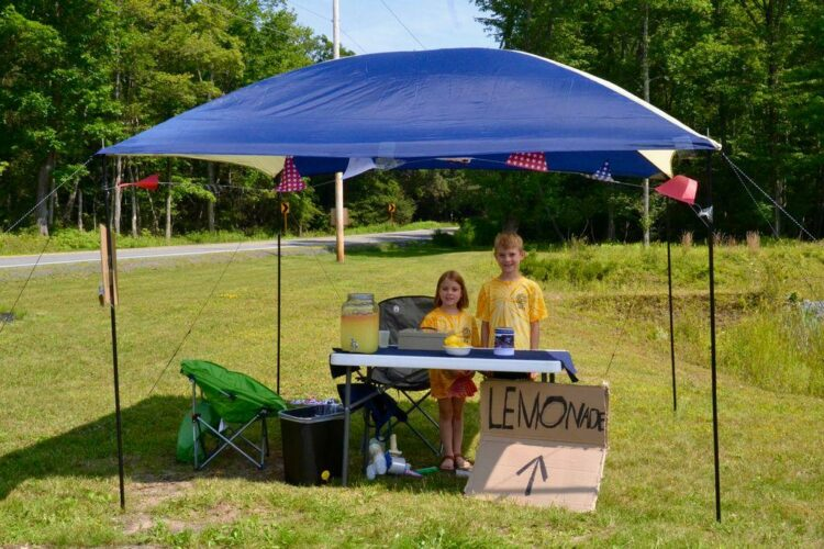 Lemonade stand helps to buy new fire truck