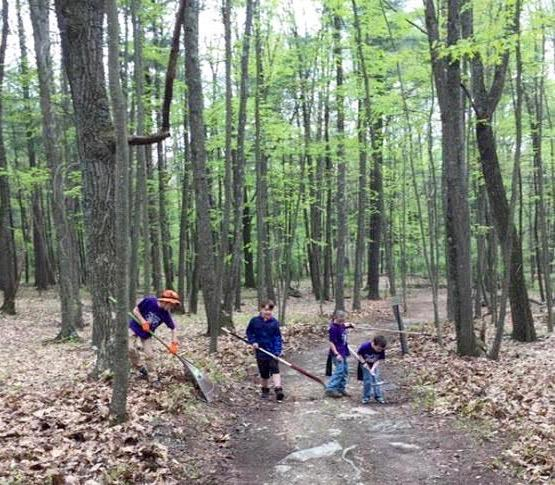 Cub Scout Pack 229 cleans walking trail